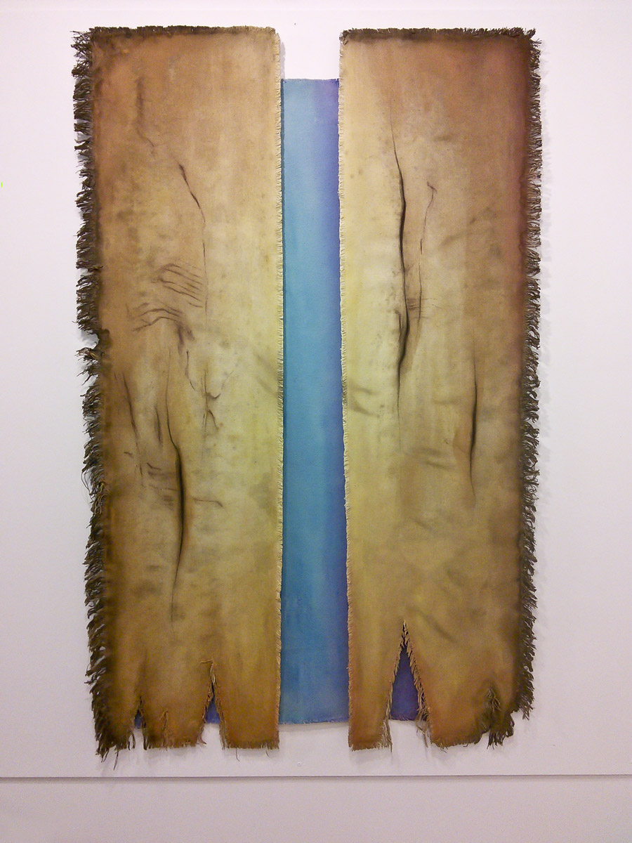 """Claire Kujundzic's """"Opening""""; mixed media on canvas"""