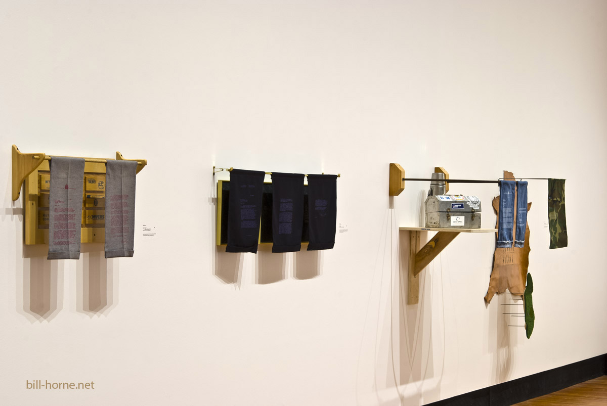 installation view of Behind the Lines exhibition, Two Rivers Gal