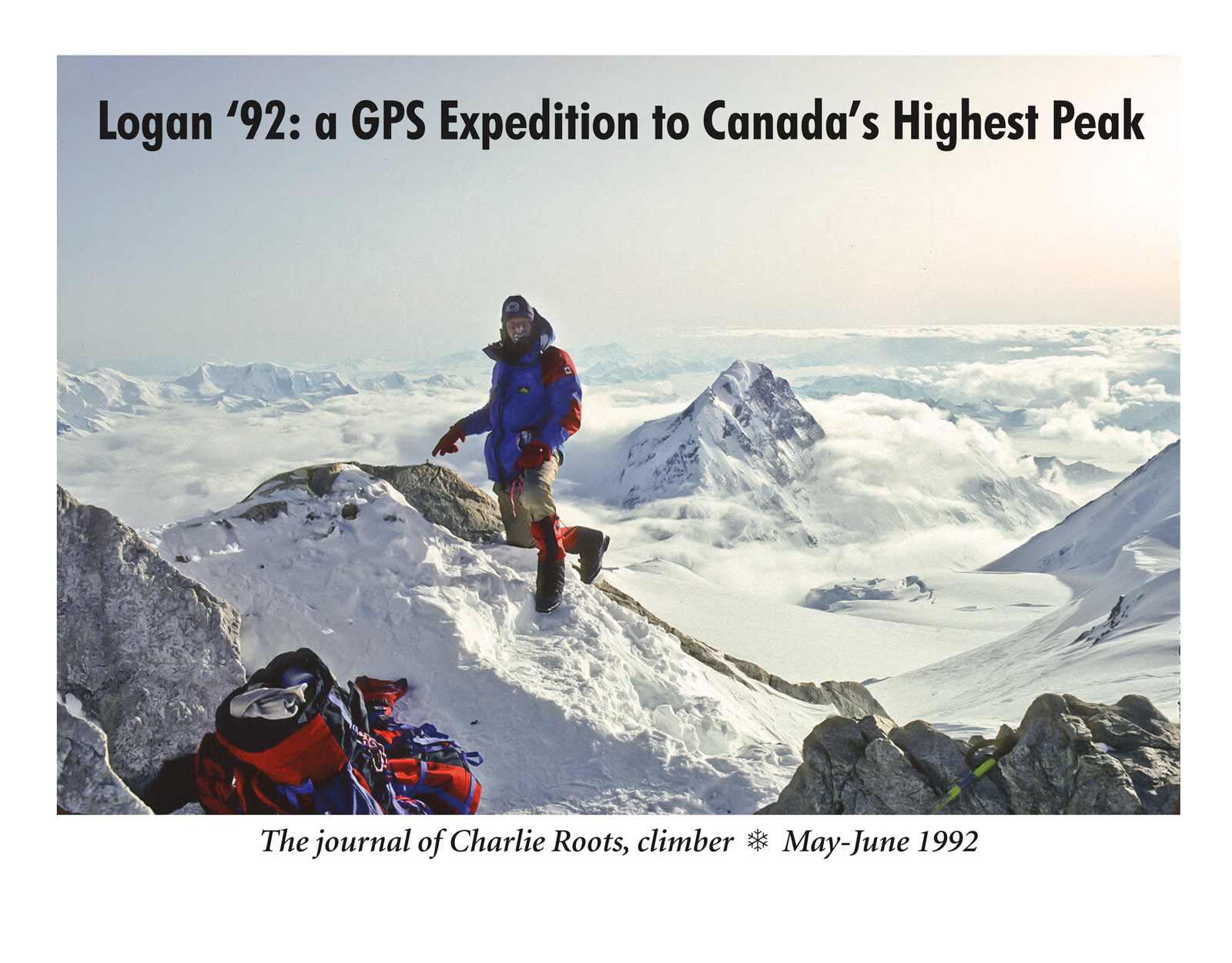 """Front cover of Charlie Roots' Mount Logan journal; 8/5"""" ✕ 11""""."""